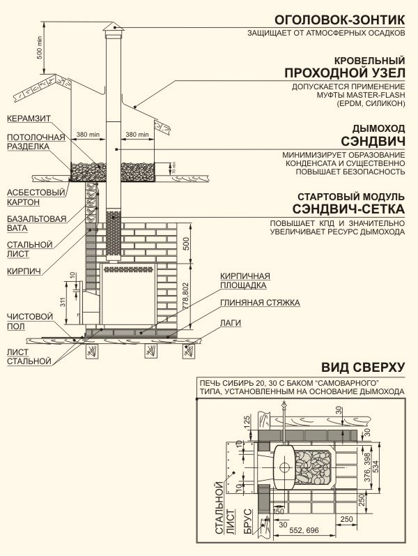 Схема установки: